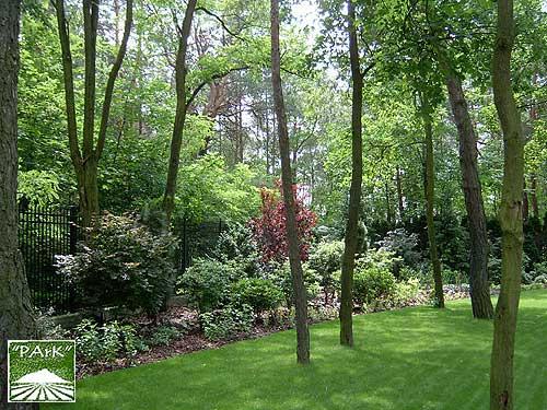 Ogród przy rezydencji w Konstancinie