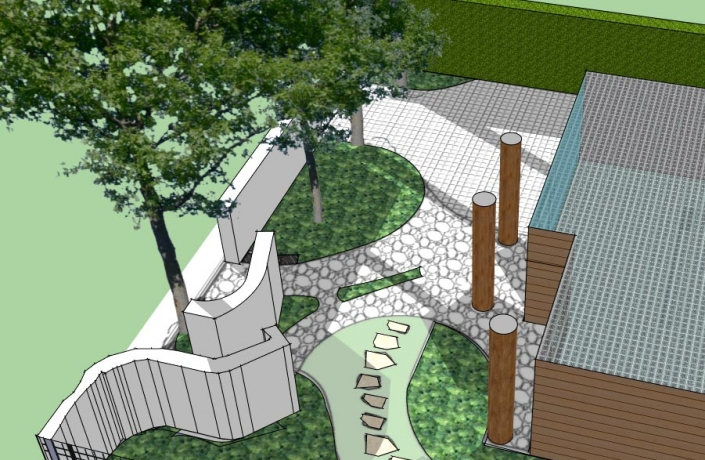 Projekt ogrodu Halinów numer 2