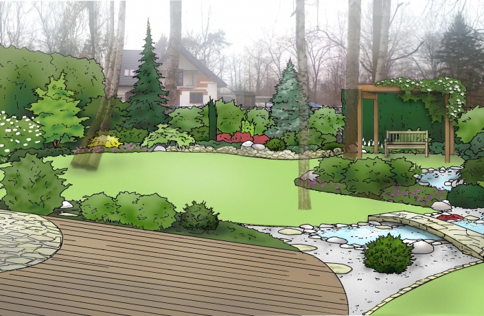 Projekt ogrodu Halinów numer 3