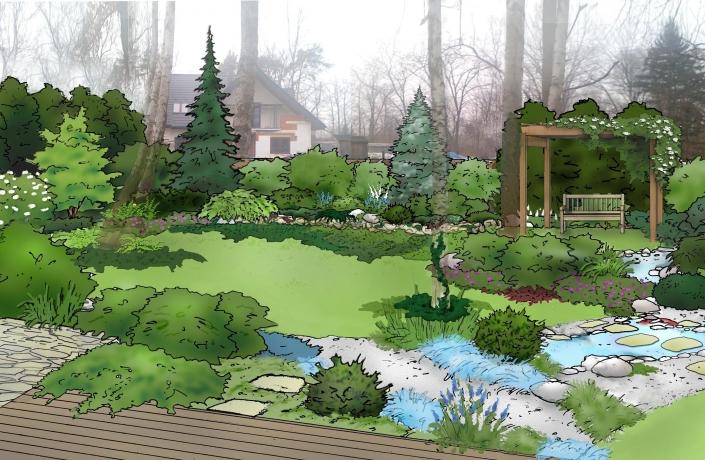 Projekt ogrodu Halinów numer 4