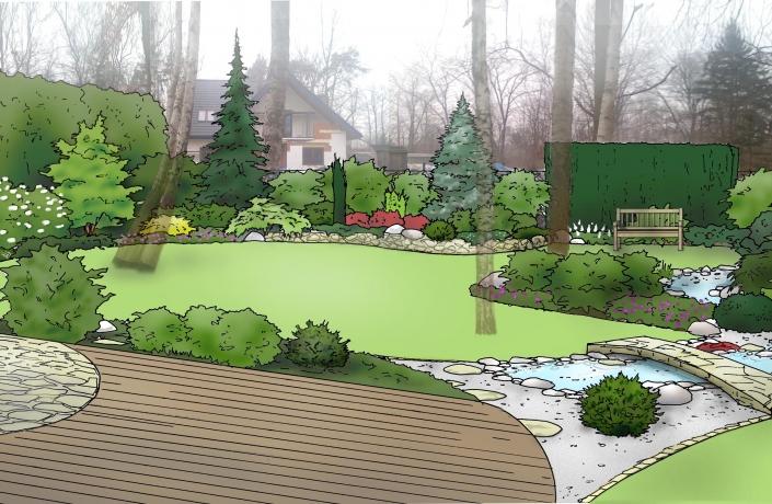 Projekt ogrodu Halinów numer 7