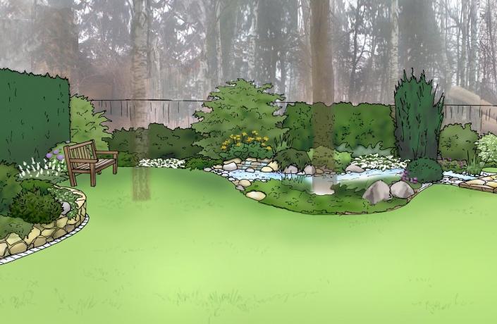 Projekt ogrodu Halinów numer 8