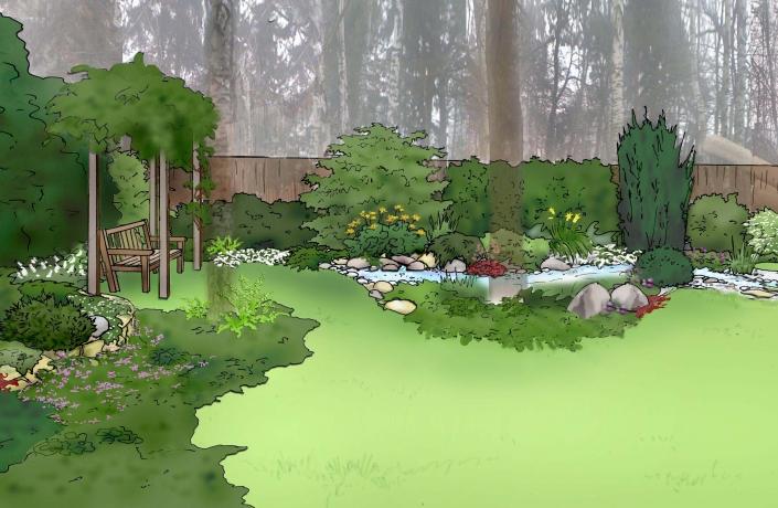 Projekt ogrodu Halinów numer 10