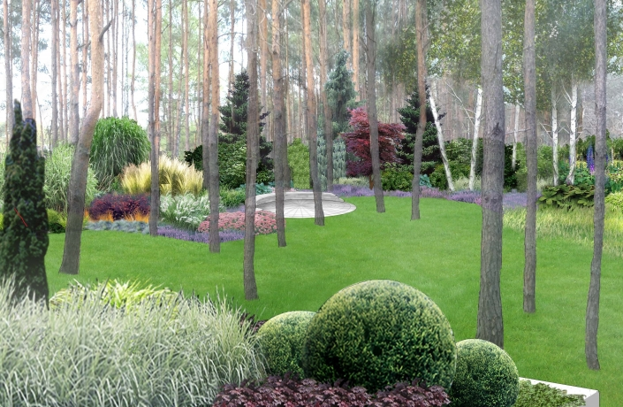 Projekt ogrodu Międzylesie numer 2