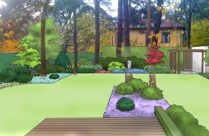 Projekt ogrodu Milanówek - numer 2