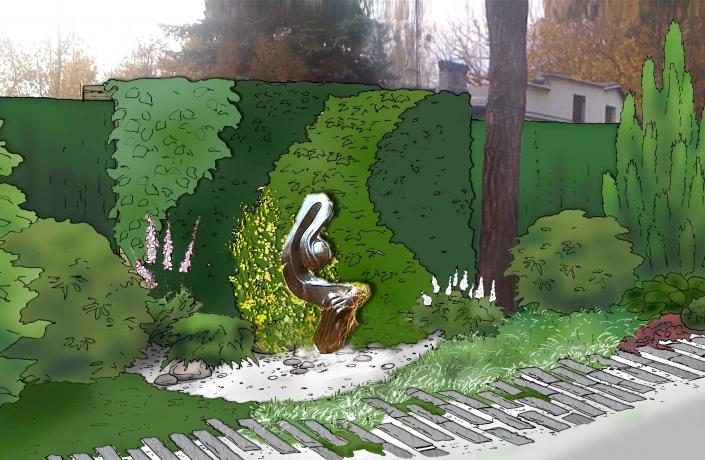 Projekt ogrodu Milanówek - numer 5