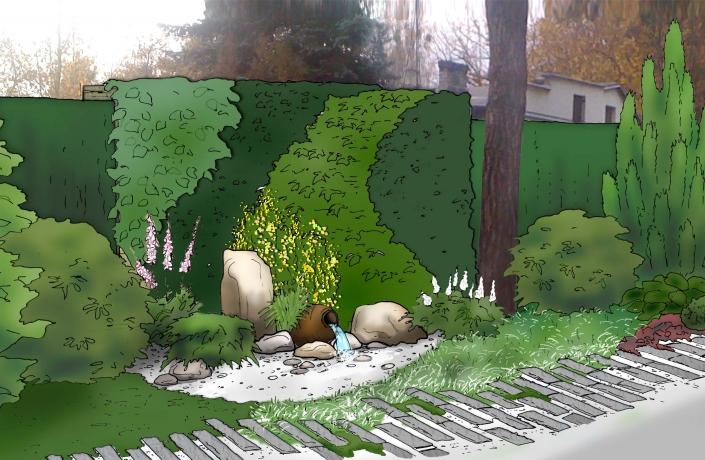 Projekt ogrodu Milanówek - numer 6