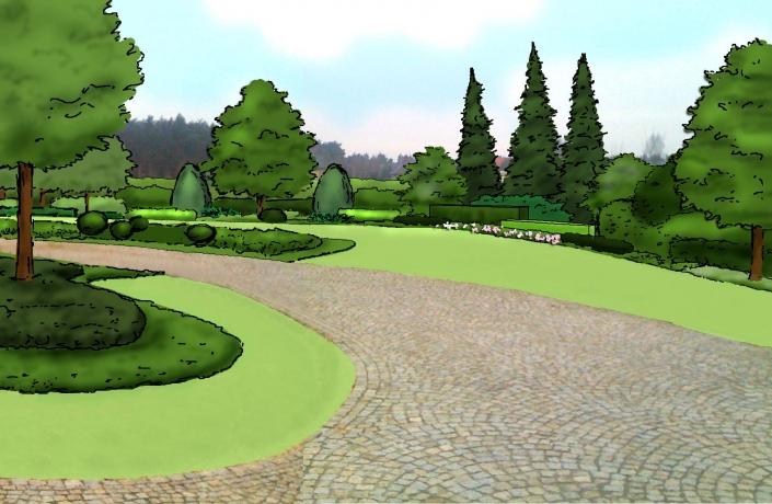 lewy narożnik ogrodzenia widok od strony domu