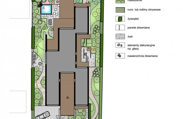 Projekt ogrodu Milanówek - plan